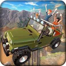Offroad4x4HillFlyingJeep-Fly&DriveJeepinHillEn