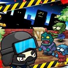 酷僵尸VS斯瓦特GS游戏1:警察射击僵尸行走和老板