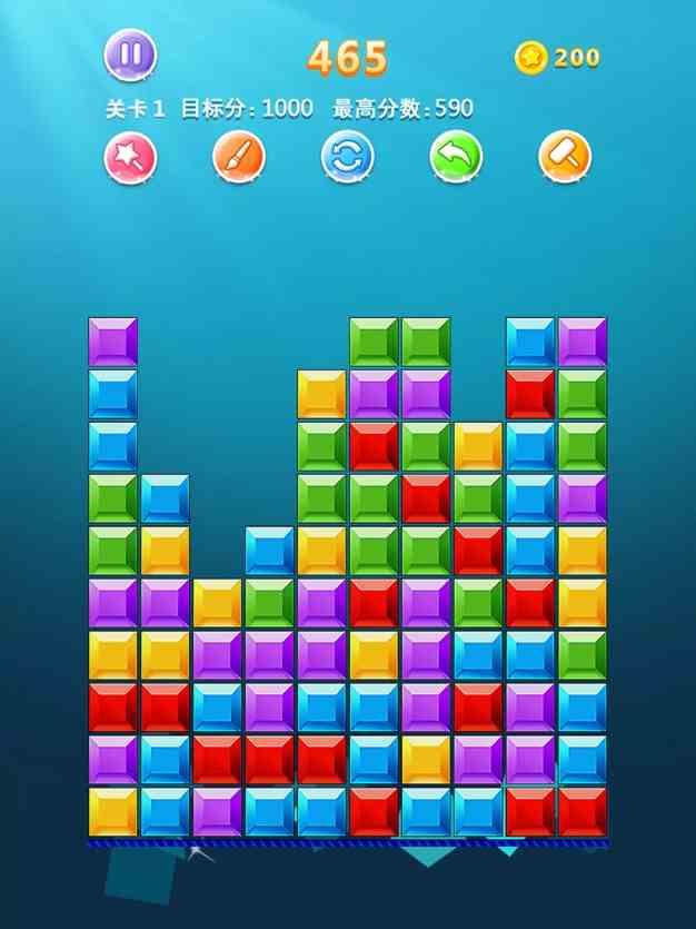 益智力消除小游戏—经典方块截图欣赏