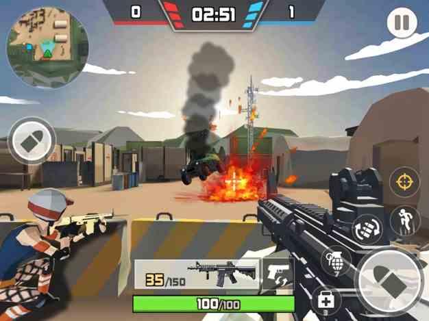 吃鸡战场:卡通和平精英多人枪战刺激战场小游戏截图欣赏